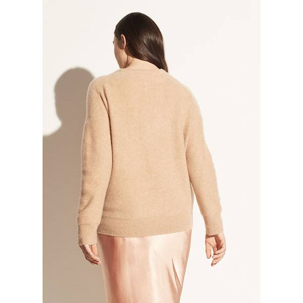 Vince Relaxed V-neck Pullover Heather Desert Clay